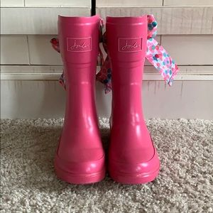 Joules toddler girl size 11 pink boots